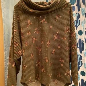 Maurices waffle knit top